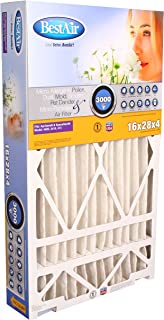 BestAir SG413-BOX-13R Air Cleaning Furnace Filter, MERV 13, Removes Allergens & Contaminants, For Aprilaire/SpaceGard Models, 16
