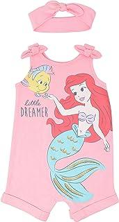 Princess Romper and Headband Set: Ariel Cinderella...