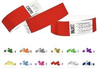 Bracelets d'identification Tyvek 19 mm, 500 pièces, Neon red - Rouge, Bracelets événementiels