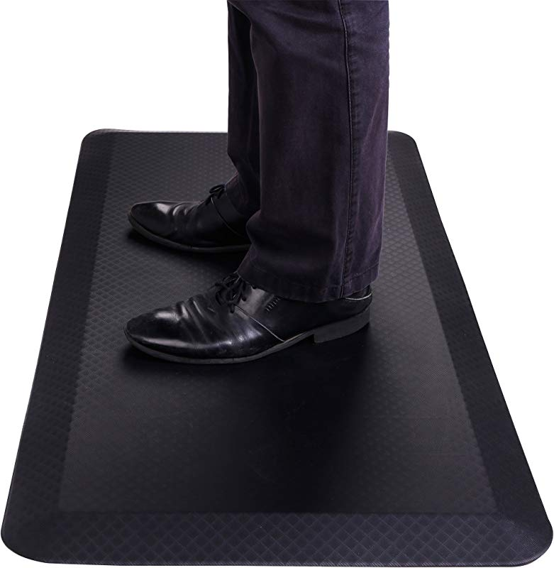 FlexiSpot Standing Desk Mat 20 In X 39 In Non Slip Comfort Kitchen Floor Mat 3 4 Anti Fatigue Black Comfort Kitchen Floor Mats For Standup Desks Kitchens Shipped Flat Midnight Black