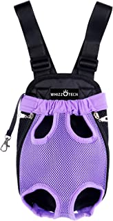 Whizzotech Adjustable Pet Carrier Backpack Pet Frontpack Carrier Travel Bag Legs Out Easy-Fit for Traveling Hiking Camping PB03