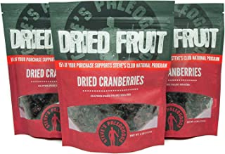 Steve's PaleoGoods, Dried Fruit Cranberries, 6 oz (Pack of 3)