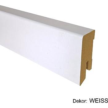 16x40 mm Fichte wei/ß Starkfolie//wasserfeste Verleimung Sockelleiste Modern-40 MR