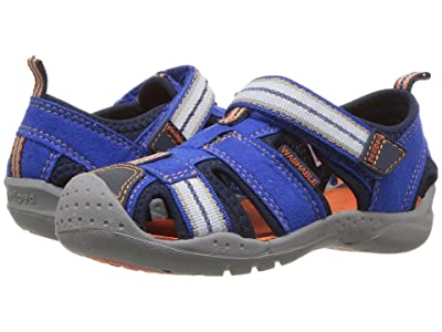 pediped Sahara Flex (Toddler/Little Kid) (Blue/Orange) Boys Shoes
