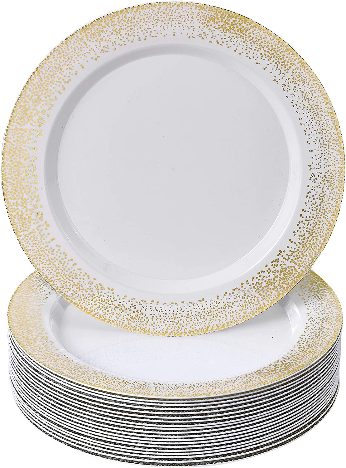Silver Challenge Kansas City Mall the lowest price Spoons Mist Collection Disposable Dinnerware Dinn Plates
