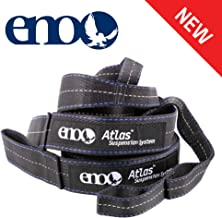"ENO, Eagles Nest Outfitters Atlas Hammock Straps, Suspension System with Storage Bag, 400 LB Capacity, 9' x 1.5/.75"", Black/Royal"