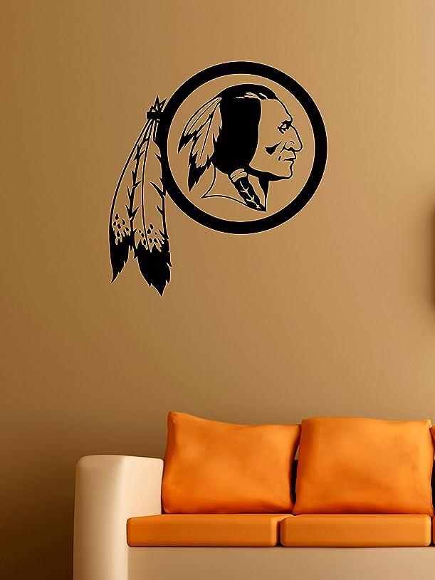 居住者クランプ放つワシントン?レッドスキンズ ロゴ ウォール ビニール デカール アメリカンフットボール ロゴタイプ ゲーム チーム ビニール デカール ビニール 壁画ステッカー IL1090