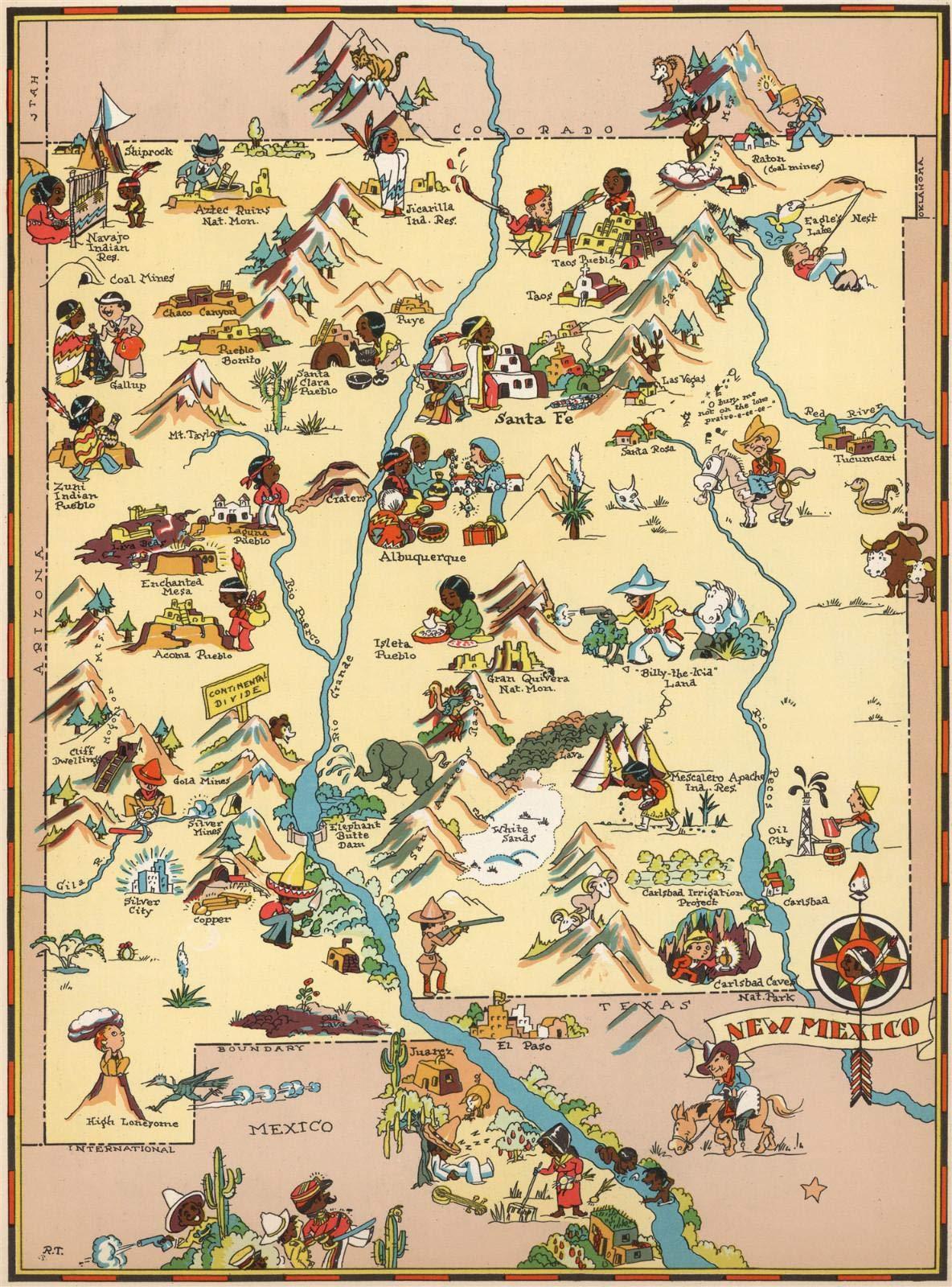 LTpintu Adultos Puzzle 1500 Piezas Mapa de Dibujos Animados Nuevo Mexico Niños Madera Jigsaw Puzzle Ocio Toys Clásico Juego Regalo: Amazon.es: Hogar