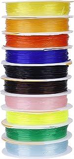 QH-Shop Elastisch Schnüre 0.8mm Mehrfarbig Faden für Schmuckherstellung Armbänder Basteln 10m 10 Stück