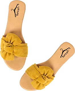 Brauch Women's Stylish Suede Upper bow Flats