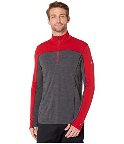 Smartwool Merino Sport 250 Long Sleeve 1/4 Zip (Chili Pepper Heather) Men