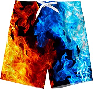 Sponsored Ad - BFUSTYLE Kids Boys Swim Trunks Mesh Lining Water Resistant Beach Shorts 5-14 Years