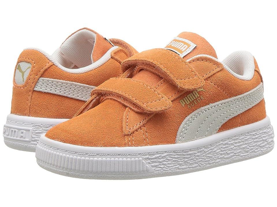 Puma Kids Suede Classic V (Toddler) (Melon/PUMA White) Kids Shoes