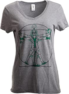 Scientist Lady   Cool Girls Science STEM Teacher Funny V-Neck T-Shirt for Women