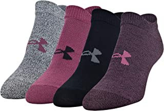 Under Armour Women's Essential No Show Socks 4-Pair, Shoe Size: Womens 6-9