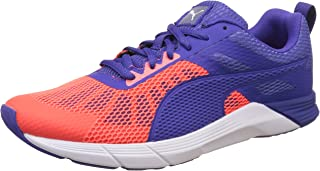Puma Running Shoes for Women, Red Blast/Royal Blue Multi Color Size 40.5 EU