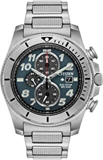 Citizen Men's Promaster Quartz Watch with Stainless Steel Strap, Silver, 22 (Model: CA0720-54H)