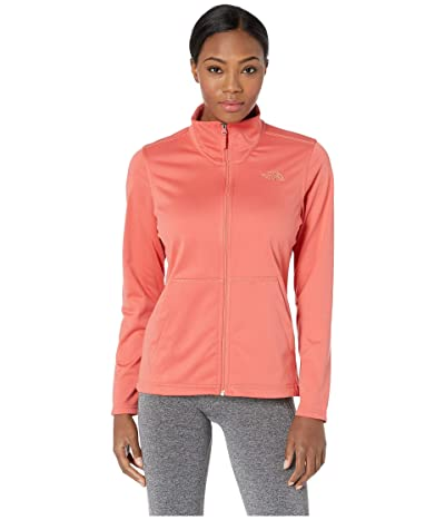 The North Face Tech Mezzaluna Full Zip (Spiced Coral) Women