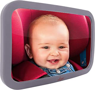 Baby Mirror for Car - Largest and Most Stable Backseat Mirror with Premium Matte Finish - Crystal Clear View of Infant in Rear Facing Car Seat - Safe, Secure and Shatterproof