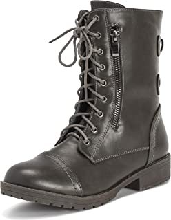 9ad112165ee Viva Shoes Womens Combat Outside Military Winter Fashion Mid Calf Pocket  Zip Boots