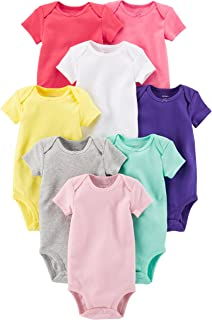 Carter's Baby Girls' 8-Pack Short-Sleeve Bodysuits