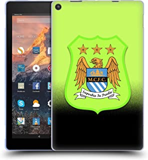 Official Manchester City Man City FC Third Kit Crest Kit Soft Gel Case Compatible for Amazon Fire HD 10 (2017)