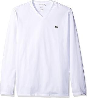 Men's Long Sleeve Jersey Pima V-Neck T-Shirt
