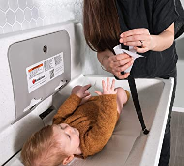 Foundations Ultra 200-EH Horizontal Wall-Mounted Baby Changing Station (White Granite) …