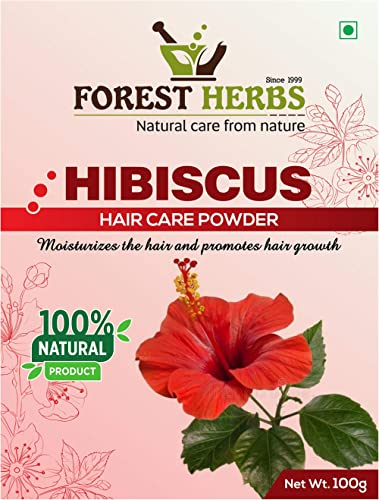 Forest Herbs 100% Natural Organic Hibiscus Powder For Hair Growth, Fack Pack Mask - 100 Grams