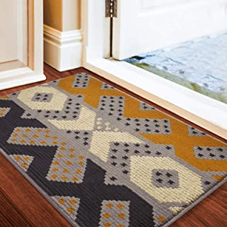 2 PVC Non-Slip Door Mats 2 Traditional Garden Designs 60x40cm Indoor Outdoor