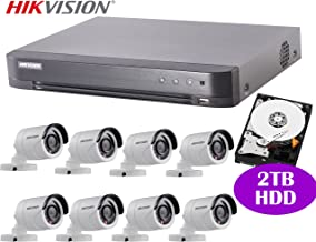 Hikvision 8CH Turbo HD Analog CCTV System with 8CH DVR + 2TB HDD and 2MP IR Outdoor Bullet Camera x8