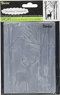 Darice, Embossing Folder Deer in The Forest, 4.25
