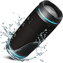 TREBLAB HD77 - Ultra Premium Bluetooth Speaker - Loud 360° HD Surround Sound, Wireless Dual Pairing, Best 25W Stereo, Loudest Bass, 20H Battery, IPX6 Waterproof, Sports Outdoor, Portable Blue Tooth