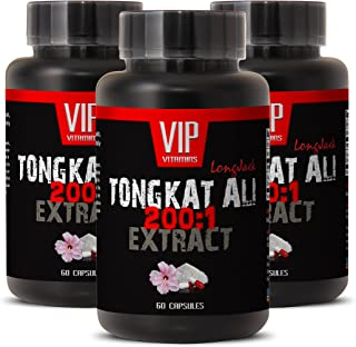 Natural Enhancement Pills for Men - TONGKAT ALI Extract 200 to 1 - Tongkat ali for Men - Natural tongkat ali - 3 Bottles 1...