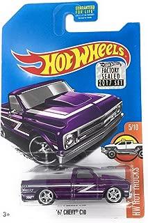 2017 Hot Wheels Hw Hot Trucks Super Treasure Hunt - '67 Chevy C10 [TH Logo with Real Riders Tires]