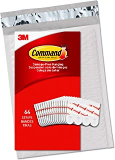 Command GP022-64NA Small Refill, 64 Strips, White