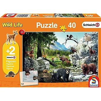 Stazione di ricerca Croco di Puzzle Schleich figure 100 Pezzi Puzzle - Nuovo di Zecca