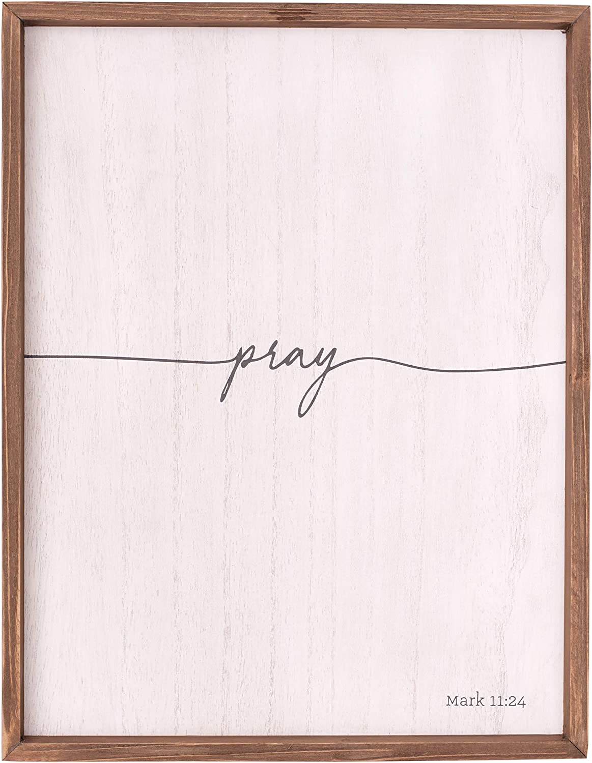 Gorgeous New Shipping Free Shipping Christian Art Gifts Pray 11:24 Plaque Wall Mark
