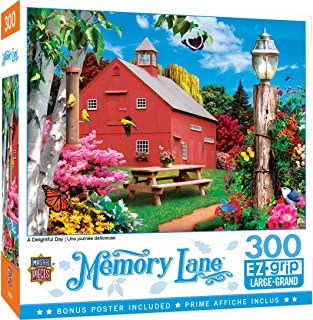 MasterPieces Memory Lane Puzzles Collection - A Delightful Day 300 Piece EZ Grip Jigsaw Puzzle