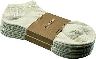 GAWILO, 8 pares de calcetines de algodón natural para zapatillas – Mujer & Hombre – 100% algodón natural – sin costuras – resistente al agua – punto liso