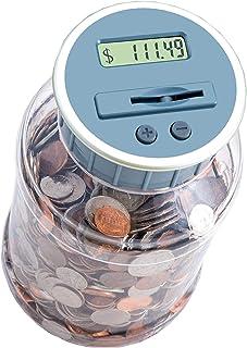 M e R Digital banco de moneda de conteo. Pilas incluidas! Contador de monedas Personal/dinero contando jar, engastados hasta sus ahorros - ee.uu, funciona con todas las monedas-en el empaquetado al por menor.