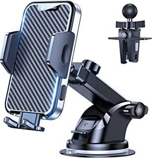 VICSEED 2021 Military-Grade Phone Holder for Car, [Thick Case Friendly] Car Phone Holder Mount, Dashboard Windshield Air V...