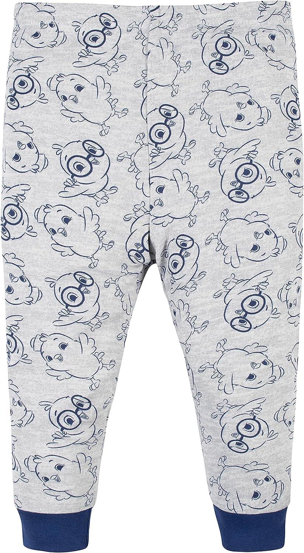Canticos Baby Boys' 4-Piece Snug Fit Cotton Pajamas