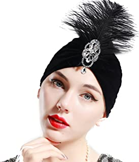 Gatsby Turban Hat Vintage 1920s Head Wrap Knit Pleated Turban 20s Cap