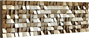 Empire Art Direct Textured, Hand Painted Primo Mixed Media Wood Sculpture, Decor,Ready to Hang,Living Room, Bedroom & Office 3D Wall Art, 72 in. x 3.4 in. x 22 in, Tan