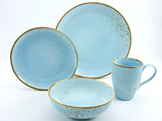 CREATABLE 19986, Nature Collection Skandinavien, Single Set 4 Pieces LIGHTBLUE, Stone, Multi-Colour, 30 x 16 x 32 cm