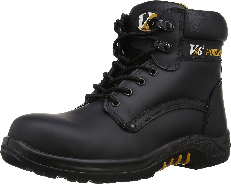 V12 Bison, Waxy Derby Safety Boot, 12 UK 47 EU, Black