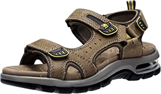 CAMEL CROWN Men's Leather Sandals for Hiking Walking Beach Treads Water Athletic Outdoor with Premium Air Cushion | Waterproof
