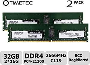 Timetec Hynix IC 32GB KIT (2x16GB) DDR4 2666MHz PC4-21300 Registered ECC 1.2V CL19 1Rx4 Single Rank 288 Pin RDIMM Server Memory RAM Module Upgrade (32GB KIT (2x16GB))