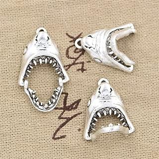 10pcs Charms Opens Closes Shark Teeth Mouth 30x28mm Antique Making Vintage Tibetan Silver Zinc Alloy Pendant